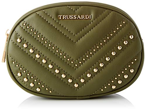 Trussardi Jeans, BERLINO BELT BAG SMOOTH ECOLEA Donna, Military, NR
