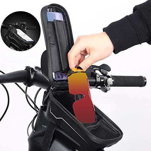 KADDGN Sac vélo VTT Vélo de Route Cadre étanche à l'avant Sacs Pouch écran Tactile Faire du vélo Tube téléphone Portable Sacs Case
