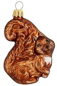 Hamburger Weihnachtskontor – Weihnachtsbaumschmuck aus Glas -Eichhörnchen