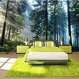 Fotomurales 3D Bosque Decoración de Pared Arte decorativos Murales moderna de Diseno Sala de estar Dormitorio Decoración de Oficina,350x250 cm(W x H)