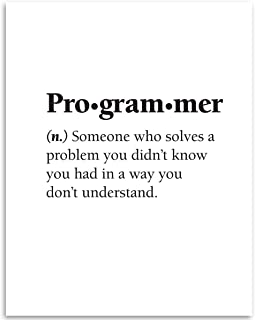 Programmer - Dictionary Quote - 11x14 Unframed Art Print - Great Gift for IT Professionals, Programmers and Geeks