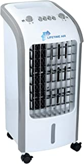 Bakaji - Climatizador evaporativo, humidificador, ventilador de aire, portátil, agua y hielo, potencia de 80W, marca Master, tamaño de 30x 27,5x 60cm