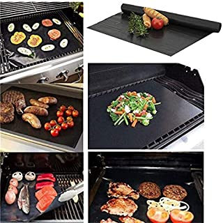 TimiCare 5pcs Super Thick Non Stick BBQ Grill Baking Mats 40 * 33cm Grill Mat Heavy Duty BBQ Grill Mats Reusable Barbecue ...