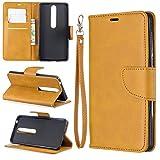 Schutzhülle Cas pour Nokia 6.1 Portefeuille Multifonctionnel Portefeuille Mobile Case en cuir...