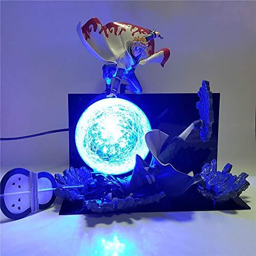 Naruto Minato VS Obito Rasengan scène bricolage LED veilleuse, Naruto Shippuden Uchiha Obito Luminaria nouveauté lampe décor à la maison