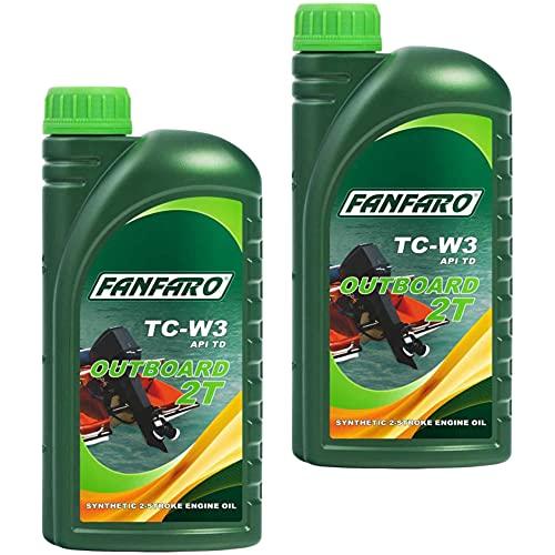 QR-Parts Set 85463548 FF6203-1 2 x 1 litro FANFARO Outboard 2T Aceite para fueraborda API TD NMMA TC-W3
