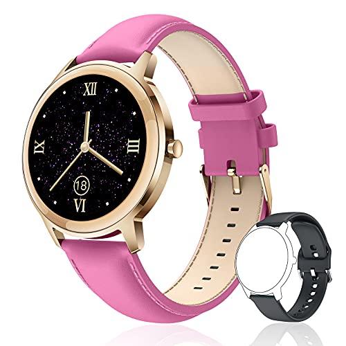 CatShin Smartwatch Mujer - Reloj Inteligente Impermeable IP67 con Pulsómetro,Monitor de Sueño Seguimiento del Menstrual 22Modos de Deporte Pulsera Actividad Podómetro - Reloj Mujer para Android iOS