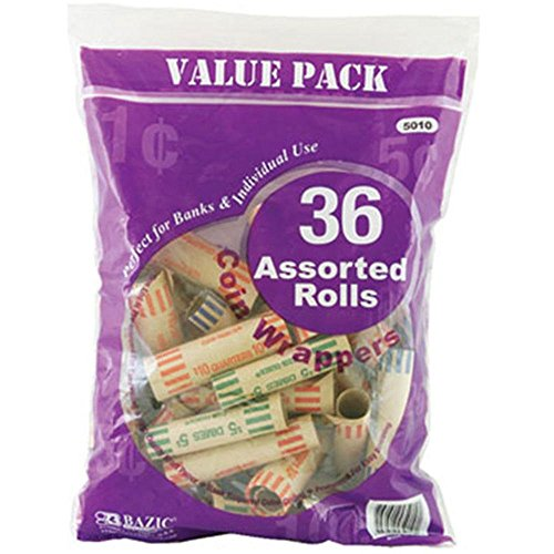BAZIC Assorted Size Coin Wrappers Case Pack 50