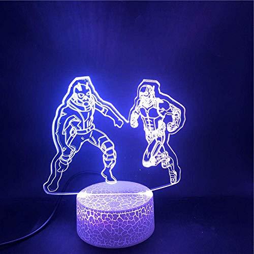 3D-Illusionslampe führte Nachtlicht Marvel Hero Ant-Man und The Wasp Base Bestes Geschenk für Teenager Atmosphere USB