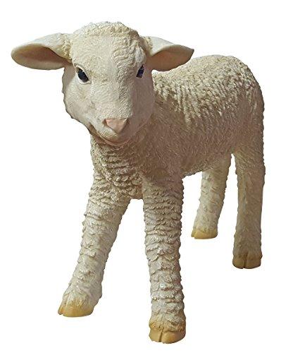 Fachhandel Plus Dekofigur Lamm Lotti stehend Gartendeko Tierfigur Schaf Lämmchen 36 cm NEU