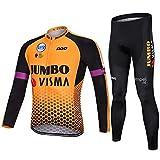 PGone Racing Classic Bicycle Sportswear Jumbo Pro - Bicicleta de Carretera al Aire Libre Anti-UV MTB MTB Trajes de Ciclismo-Ciclismo para Mujeres de Manga Larga (Size : XXX-Large)
