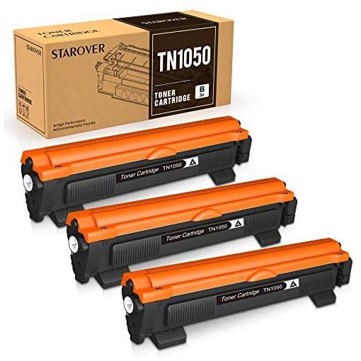 STAROVER Cartucho de Tóner Compatible Repuesto para TN1050 TN-1050 para Brother HL-1110 DCP-1510 HL-1210W DCP-1610W HL… 1