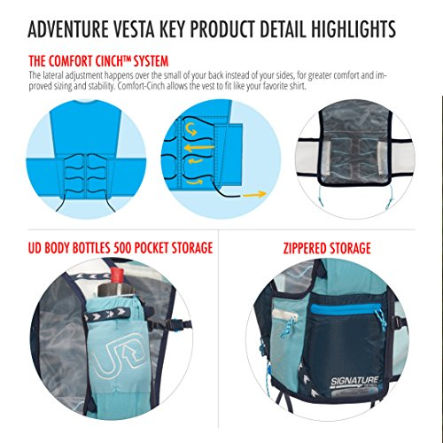 ULTIMATE DIRECTION Adventure Vesta 4.0 X/S Lichen, Hydrating Backpack Woman, Light Blue, Small
