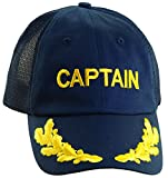 Dorfman Pacific Co. Men's Mesh Back Captain Cap, Navy, One Size