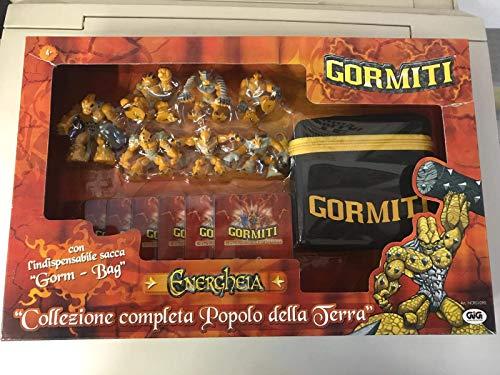 GORMITI Final Evolution ENERGHEIA Set Completo Popolo Terra 7 Pezzi + Carte + Borsa