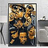 Wandkunst Bild Poster Hip Hop Rap Star Poster Drucke Legend