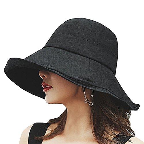 T WILKER UVカット 帽子 レディース ワイヤーを加える 取り外すあご紐 サイズ調節可 つば広 おしゃれ 可愛い ハット 旅行用 日よけ 夏季 女優帽