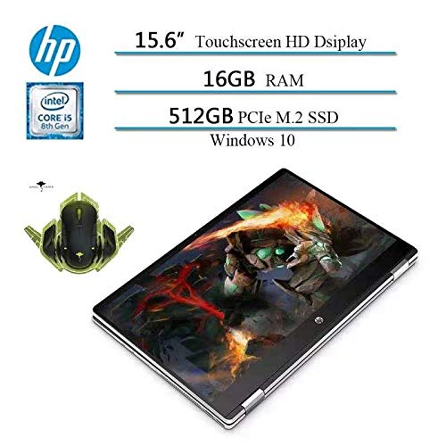 2020 Newest HP x360 2 in 1 15.6' HD Convertible Touchscreen...