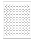 ChromaLabel 3/4 inch Round Labels for Laser & Inkjet Printers   2,700/Pack (White)