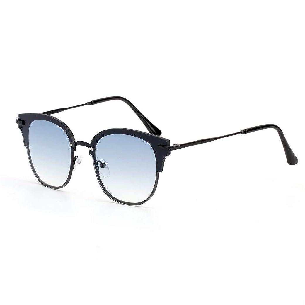 活性化見物人ジャムレディースサングラス 夏のファッションレディースサングラスビーチUV保護ドライビングUV400保護クール 紫外線防止 軽量 (Color : Light blue)