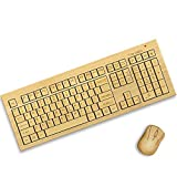 Bamboo Wireless Keyboard and Mouse. Standard Size. Eco Friendly, Handcrafted, Standard Size Design by TrioGato