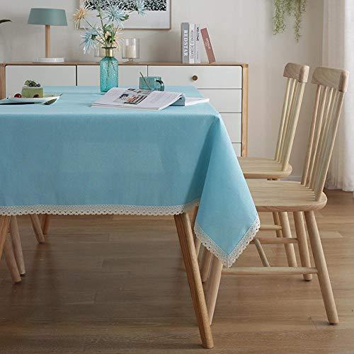 Alayth Tafelkleden Rechthoekig Veeg Schoon Wasbaar Katoen en Linnen Kanten Tafel en Tafelkleed Hotel Thuis Koffie Tafelkleed Blauw