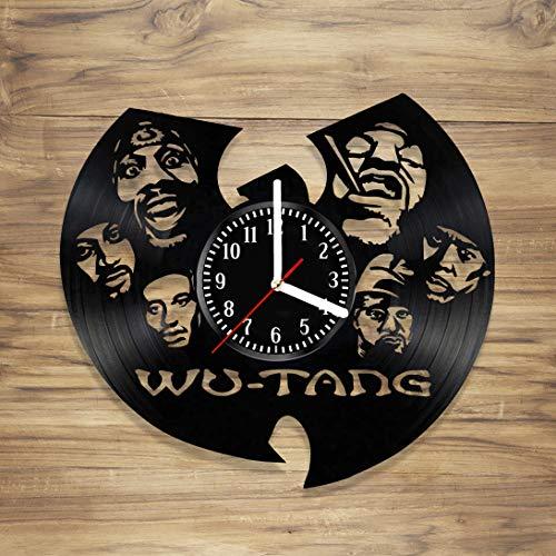Vinyl Record Wall Clock Hip Hop Clan Rap Legend Bastard Staten Island Group Handmade Art Home Unique Gift idea Him Her (12 inches)