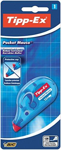 Tipp-Ex Korrekturroller Pocket Mouse, mit Bandschutzkappe im Blister à 1 Stück, Korrekturband 10 m x 4.2 mm