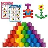SneeperZ つみき 積み木 知育玩具 図形キューブ 知育 モンテッソーリ おもちゃ