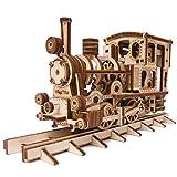 Wood Trick - Chug-Chug Treno - Puzzle 3D di Legno Tagliato al Laser - Set di Costruzione Meccanica - Rompicapo per Bambini, Ragazzi e Adulti - Assemblaggio Senza Colla