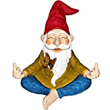 Mood Lab Garden Gnome - Zen Gnome Statue - 9.25 Inch Tall Hand Painted Lawn Gnome Figurine for Outdoor or House Decor