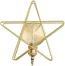 Wall Lamp Lights Modern Wall Light Creative Five-Pointed Star Metal Wall Lamp for Living Room Bedroom Bed Aisle Home,Golde...