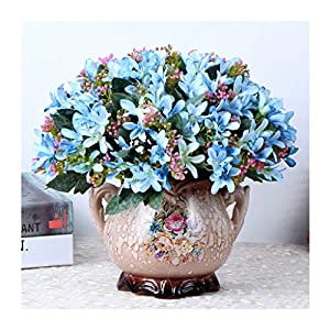 Silk Flower Arrangements ZMX Art Decoration Artificial Flower with vase, Fake Flowers Bouquet of Roses, for Living Room, Home and Study Decorations (Variety Optional) Artificial Flower (Color : Narcissus+vase)