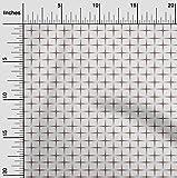 oneOone Viskose Chiffon Brauner Stoff Geometrische