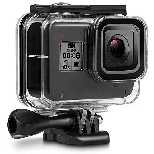 DHcamera Waterproof Case for GoPro Hero 8 Black - Protective Underwater Waterproof Housing GoPro Action Camera Case Water Resistant up to 196ft (60m)