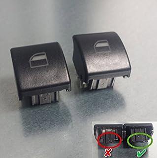 2 Stück Fensterheber Schalter Taster Fensterheberschalter Taste für 3er e46