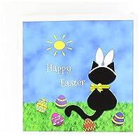 Charlyn Woodruff–CW Designs Holidays–イースター–Cute Black Cat Happy Easter–グリーティングカード Set of 6 Greeting Cards