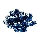 Hanone Decoración de Coral de Resina Decoración de Acuario de Peces de Colores Azul Coralino Artificial