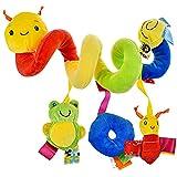 YEAR OLD Giocattoli per Bambini 0-3 Mesi 3-6 Mesi per Bambini e Ragazze Regalo 6-12 Mesi Passeggino Giocattoli Seggiolino Auto Giocattoli(Blocco di Colore)
