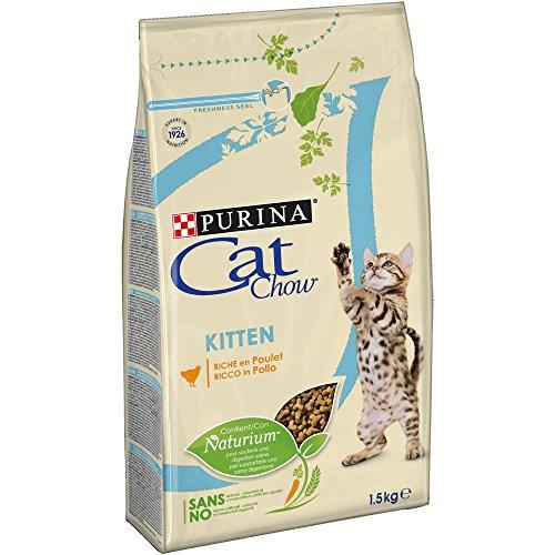 Purina Cat Chow pienso para Gato Junior, bebe, gatito con Pollo 6 x 1,5 Kg