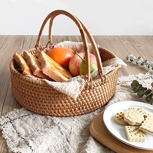 Storage Multifunktionale Picknickkorb, handgewebt, Can Shop Verschiedene Lebensmittel, Obst, Zeitschriften, Bier, Kleidung (Größe : L)