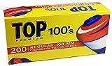 Top Regular Full Flavor Red RYO Cigarette Tubes - 100mm 250ct Box (4 Boxes)