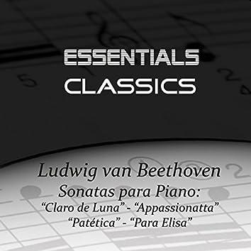 """Beethoven - Piano Sonatas No.14 """"Moonlight"""" -  No. 8 """"Pathetique"""" - No. 23 """"Appasionatta"""" -  Bagatelle In A Minor, Op. 59, """"Für Elise"""""""