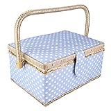 Cestino da cucito in tessuto, organizer per cesto portaoggetti da cucito Organizzatore da cucito a vibrazione Scatola portaoggetti da cucito, per bottoni Mandrini Aghi per nastri Fili