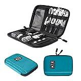 bagsmart Elektronische Tasche, Handliche Elektronik Tasche Reise für Handy Ladekabel, Powerbank, USB Sticks, SD Karten (Blau)