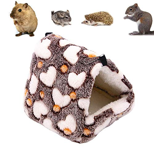 NganSuRong Hammock Nest Hamster Ferret Rabbit Guinea Pig Rat Mice Squirrel Pet Bird Bed Toy Warm Mini House Cave Hanging Cage Coffee