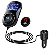 Bluetooth FM Transmitter Auto KFZ Radio Adapter, 1.44 Inch LED Anzeige Lesen TF-Karte Bluetooth Freisprecheinrichtung mit Mikrofon Auto MP3 Player Car Kit Dual USB Ladegerät für IOS...