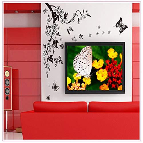 XCJX Schmetterling Blumen wandaufkleber Zimmer papiertapete Selbstklebende Aufkleber creativa Aufkleber Aufkleber kunstwand decoracion para ventanas