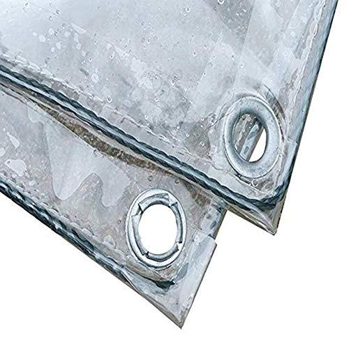 YONGQUAN Impermeable Lonas Transparente Cubierta De Lona Vidrio De PVC Tienda Invernadero Cámping Pabellón Fácil De Instalar, Tamaño De Personalización (Color : Clear, Size : 1.8Mx3M)