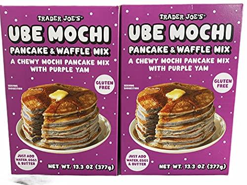 Trader Joe's Ube Mochi Pancake & Waffle Mix, 13.3 oz (Pack of 2)